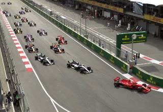 Старт гонки Формулы-1 2018 года в Баку